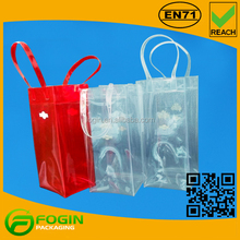 Nice Quality Clear Wine Packaging PVC Ice Cooler Plastic Bag