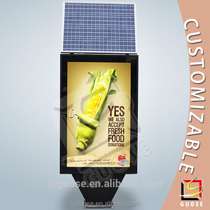 LED advertising scrolling free standing light box with solar panel