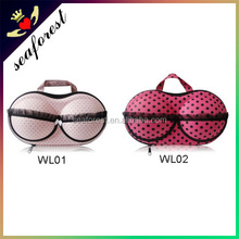 Women Pink EVA bra bag with zipper for travelling