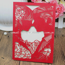 2016 top selling pakistan wedding invitations factory low price