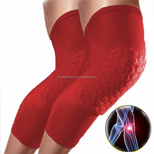 Knee Compression Support Amazon High Quality Long/short Anti-slip Honeycomb Keen Compression Support Sleeve To Protect knee