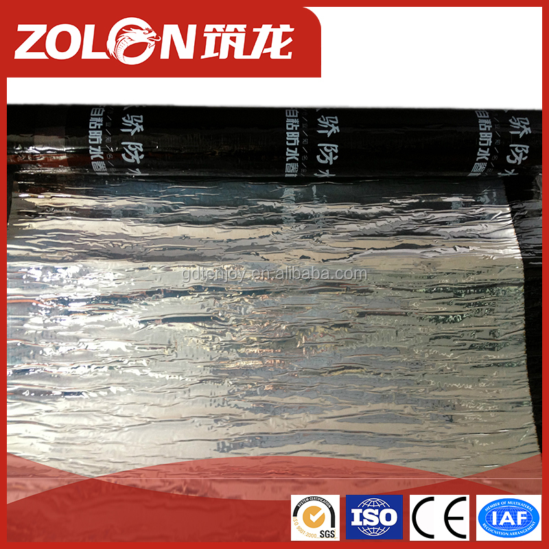 Self adhesive Polymer Modified Bitumen Waterproof Membrane For Roof Deck Balcony