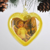 Christmas decorative glass door hanger