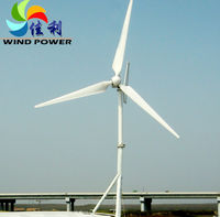 2014 NEW FD6.0-5KW PERMANENT MAGNET off-grid horizontal axis low start up windspeedhome use wind turbine generator 220V