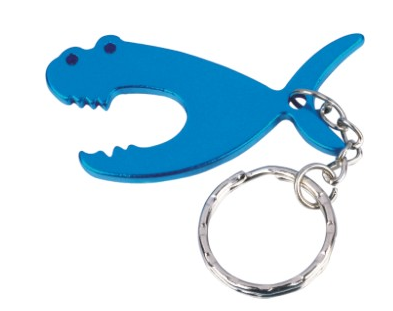 Keyring Fish Shaped Bottle Opener with Metal Ring