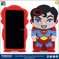 mobile phone superman cartoon silicon case for iphone 4