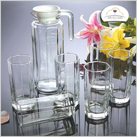 drinking water glass set glass jug and cups set glass water jug set