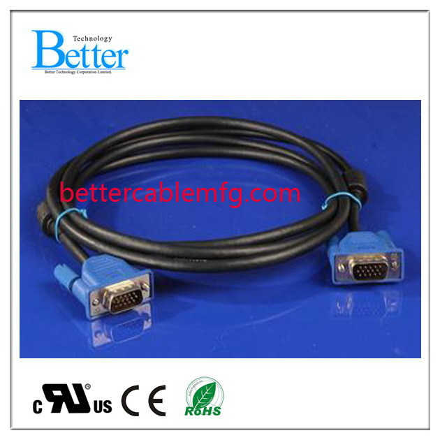 Excellent quality professional male to male vga cable vga internal