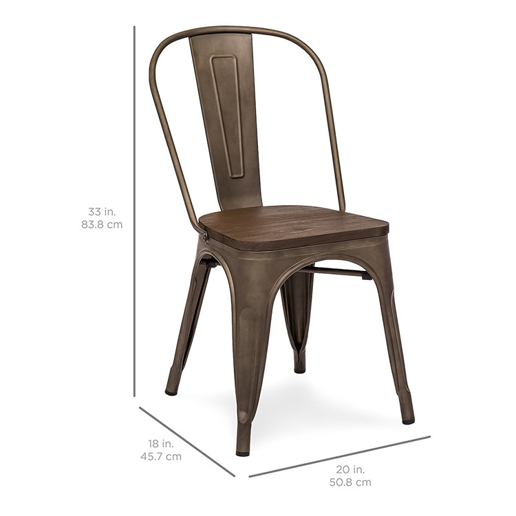 Free sample Cheap Pvc Wrought Iron French Rattan Metal Dining Chair With Metal Leg