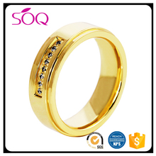 Large Stock Stainless Steel Jewelry Gold Rings Stones Wholesale Ring