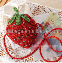 Crochet Bag Satchel Bag Purse will let mobile phone control summer bag
