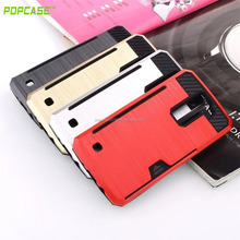 Beautiful Funtion phone shell, plug-in card PC+TPU phone case, hard phone case low price phone accessories for LG K8