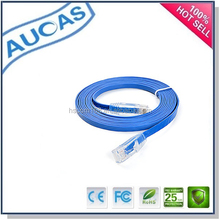 wholesale cat6 rj45 gold plated /cat5e UTP FTP ethernet network unshielded /24awg stranded 8p8c flat patch cable patch cord