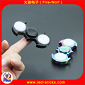 2017 Newest Classic Toy Customized logo Led light metal finger hand spinner CR1220 Battery