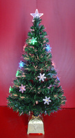 2FT to 8FT Fiber Optic Christmas Tree with LED and Snowflake Ornament