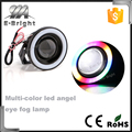 Universal Car Fog lights Angel Eyes 64mm 76mm 89mm 3200lm COB LED DRL Driving Lights Fog Lamp Fog Light