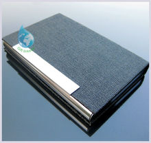 wholesale custom pu leather name card case 2014