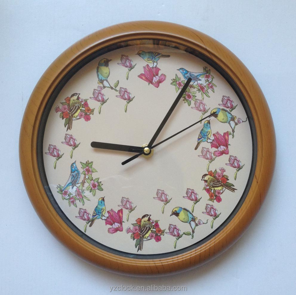 New Design 10 Inch Singing Bird Clock 2016