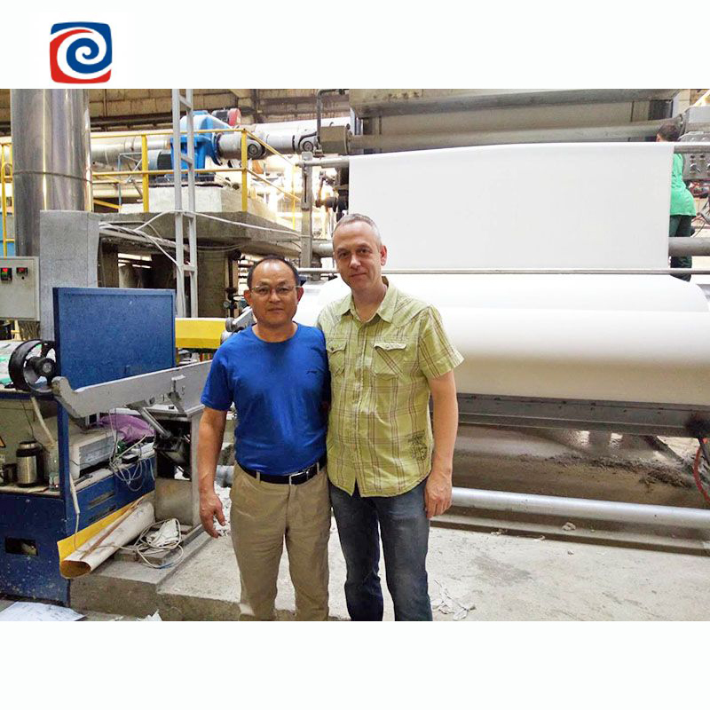 High quality tissue paper making machine for toilet paper production line