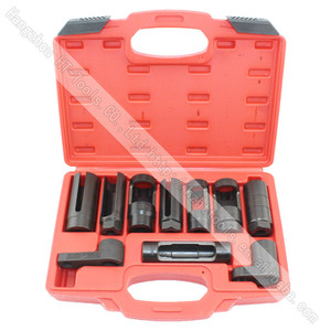 10pcs Sensor & Sending Unit Socket Set Oxygen Sensor Socket Hand Tool Set