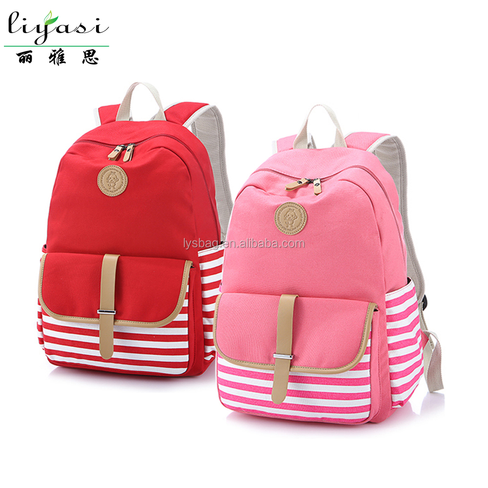 hot promotional portable teenager students canvas school bag backpack with shoulder pad,wholesale customizable travel bag