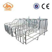 Hot dipped galvanized pig gestation crates farrowing pens design