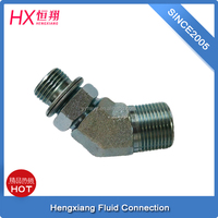 hydraulic 45 degree elbow fitting with copper fitting 1BG4-04OG for pipe fittings union connector from China Yuyao