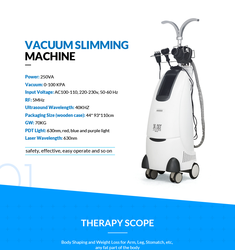 SK EILY professional slimming machine body fat reducing machine with rf sound wave fat system slimming cavitation machine