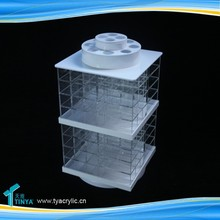 Alibaba China New Products Home Furniture Acrylic Clear Lip Balm Container Nail Polish Rack Display