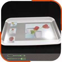 Melamine Coffee Silver tray