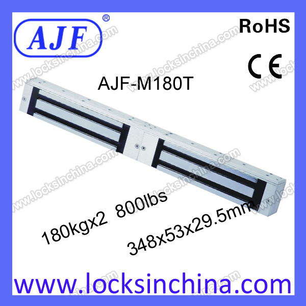 400lbs 360kg double door electromagnetic lock for glass door