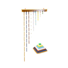 High Quality Custom Colorful educational gift montessori golden bead material bead stair