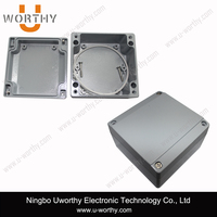 hot sale electrical switching box weatherproof aluminum enclsoure with gray powder painted 100 100 60mm