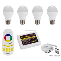 Milight first-rate wifi wireless control rgbw 6W E27 smart led light bulb with most reasonable price