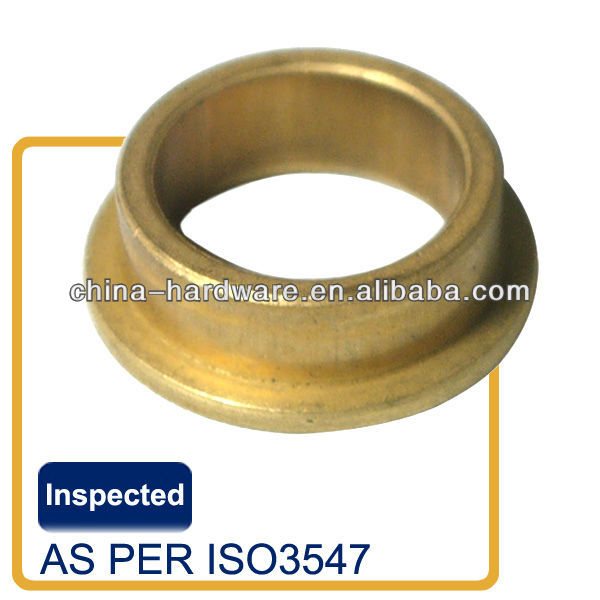 Solid bronze double flange bearing