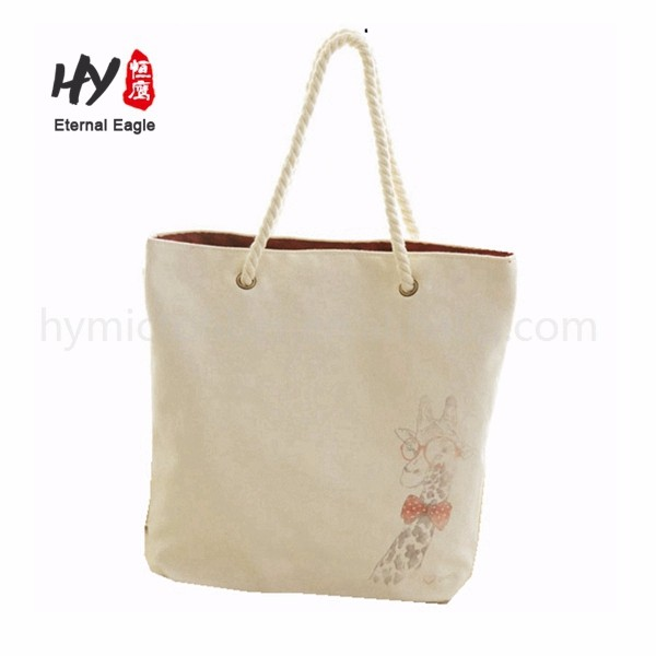New fashional recyclable shopping inner pocket canvas tote bag