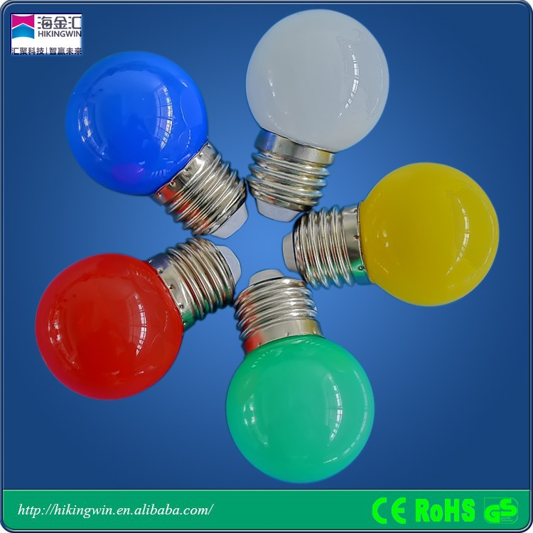 CE,Rhos,PC Cover Colorful Holiday LED Bulbs E27 waterproof wedding decoration led lamp