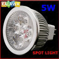 1 lot 5pcs/lot MR16 GU5.3 5W LED lighting spot light 50*60mm 220V led bulbs High power lamp F-3 5W FREESHIPPING FFF