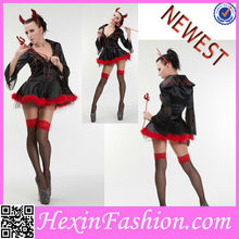 Wholesale 3PC Sexy Black Halloween Witch Carnival Costumes