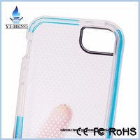 Wholesale retail package TPU soft material tech 21 case impact mesh protective case for iPhone 5 5S