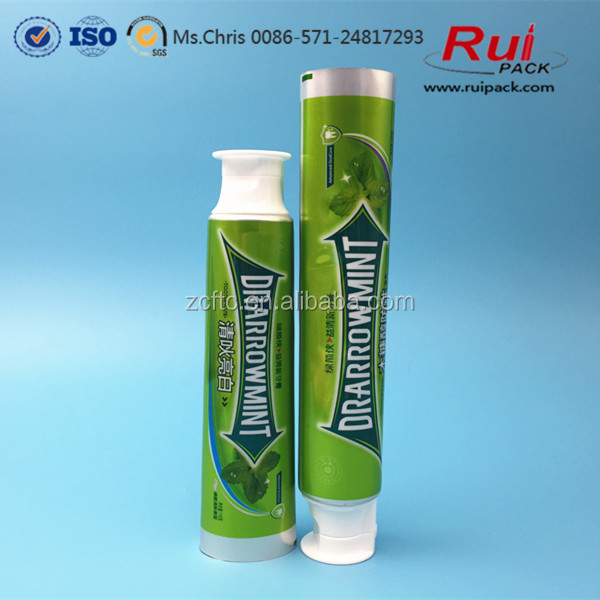 Hot sale flip top cap 160g empty small laminated toothpaste tube