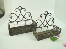 French country iron window flower box