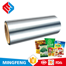 vacuum metallized casting polypropylene film rolls for making packing