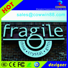 plastic acrylic LED 3D mini double light letter, led sign board lighted letters