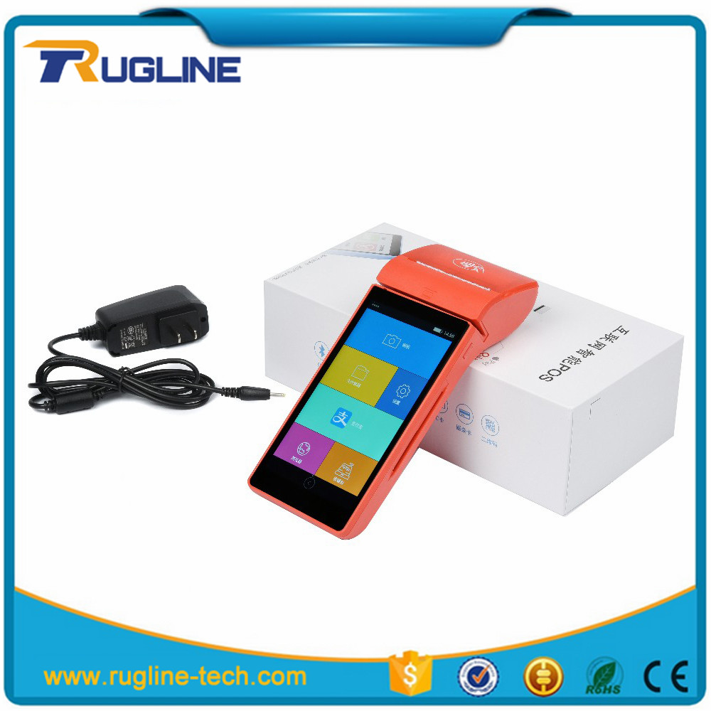 Portable Android 5.1 RFID tablet pos price mobile por top-up device With Printer Device