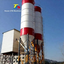 HZS35 35m3/h small construction use concrete batching plant