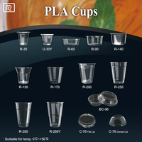 R170-P PLA 5oz 150ml disposable food and beverages - dessert cup with lid