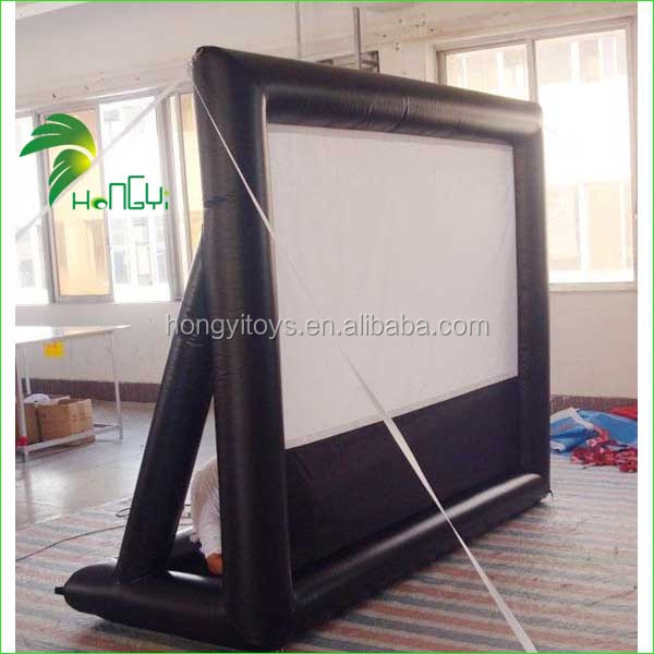 Commercial Inflatable Movie Screen , Outdoor Inflatable Projection Screen For Cinema