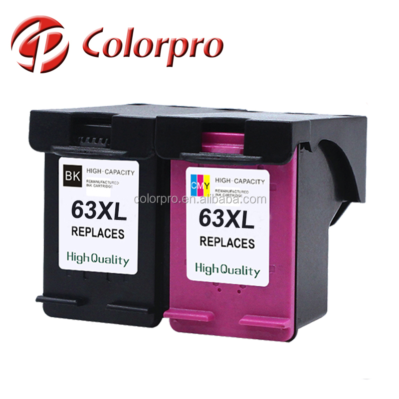 Black & Tri-color Ink Cartridge for HP63 63XL Print Cartridge For HP Deskjet 1110/2130/2131/3632/4520/1112 Inkjet Printer