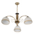 Zhongshan big glass modern ceiling chandelier / home decoration lighting fixture 8516-5